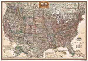 Wall Map Of Usa By National Geographic From Maps Com If