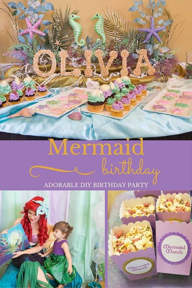 You Have To Sea Just How Lovely This Mermaid Themed Birthday Party Is Christy From Ritzyparties Threw Enchanting For 2 Year Old Olivia