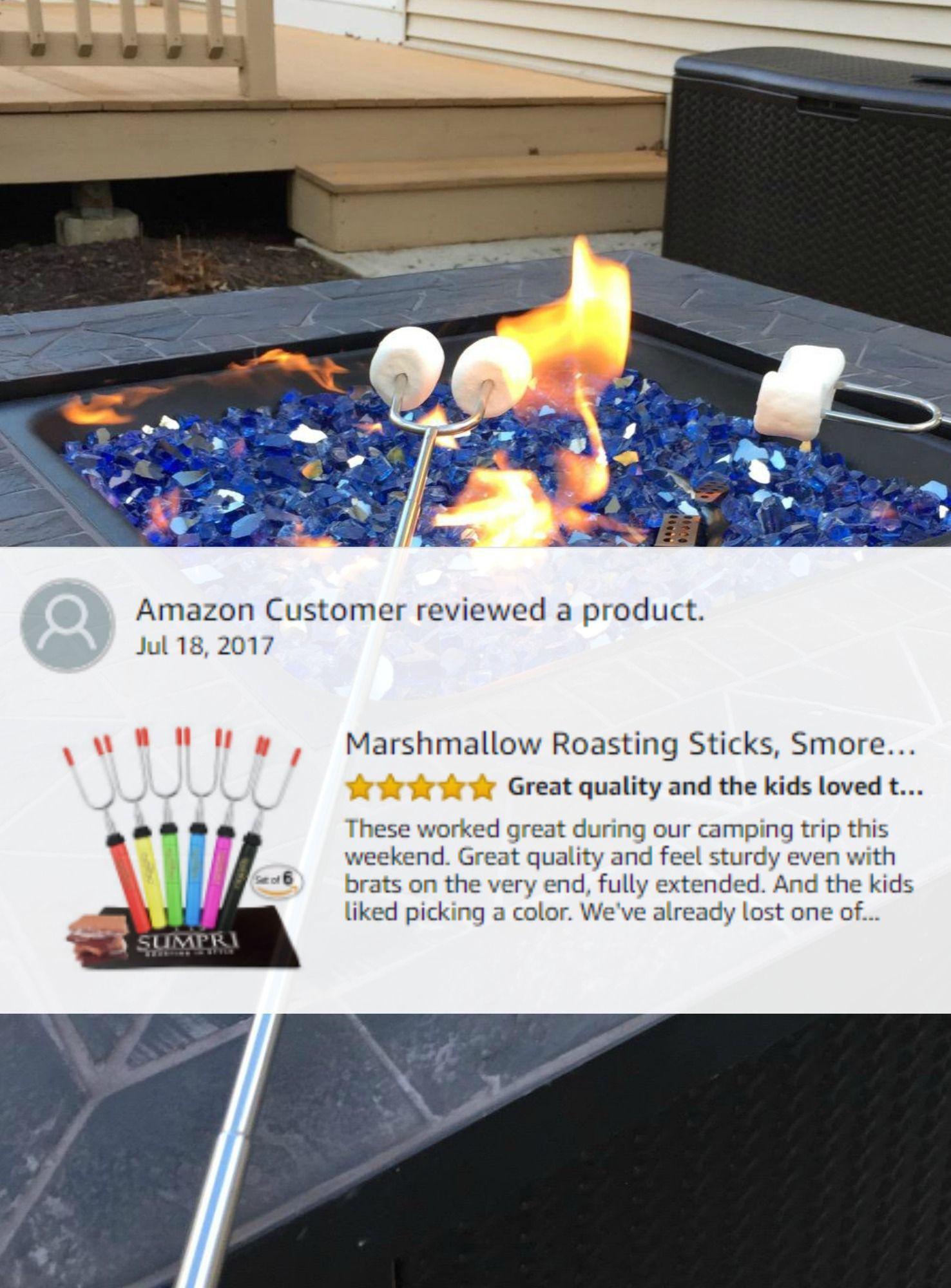 sumpri barbeqa marshmallow roasting sticks telescoping extra long 34