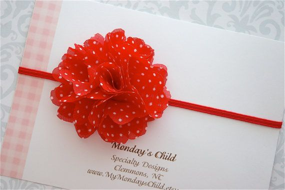 love the red and white polka dot!