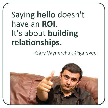 It`s about building relationships
