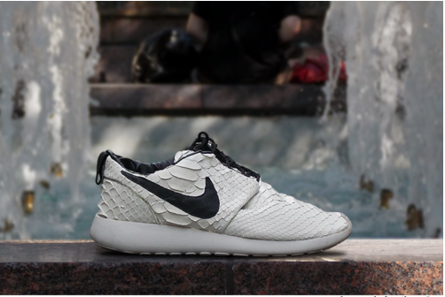 721057992dd8 officialist  overdeauxis  overdeauxis White python leather roshe runs. Follow  Overdeauxis