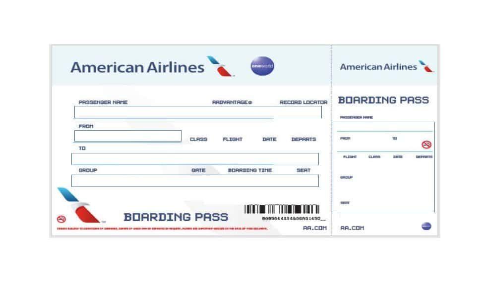 Fake Boarding Pass Boarding Pass Template Fake Plane Ticket