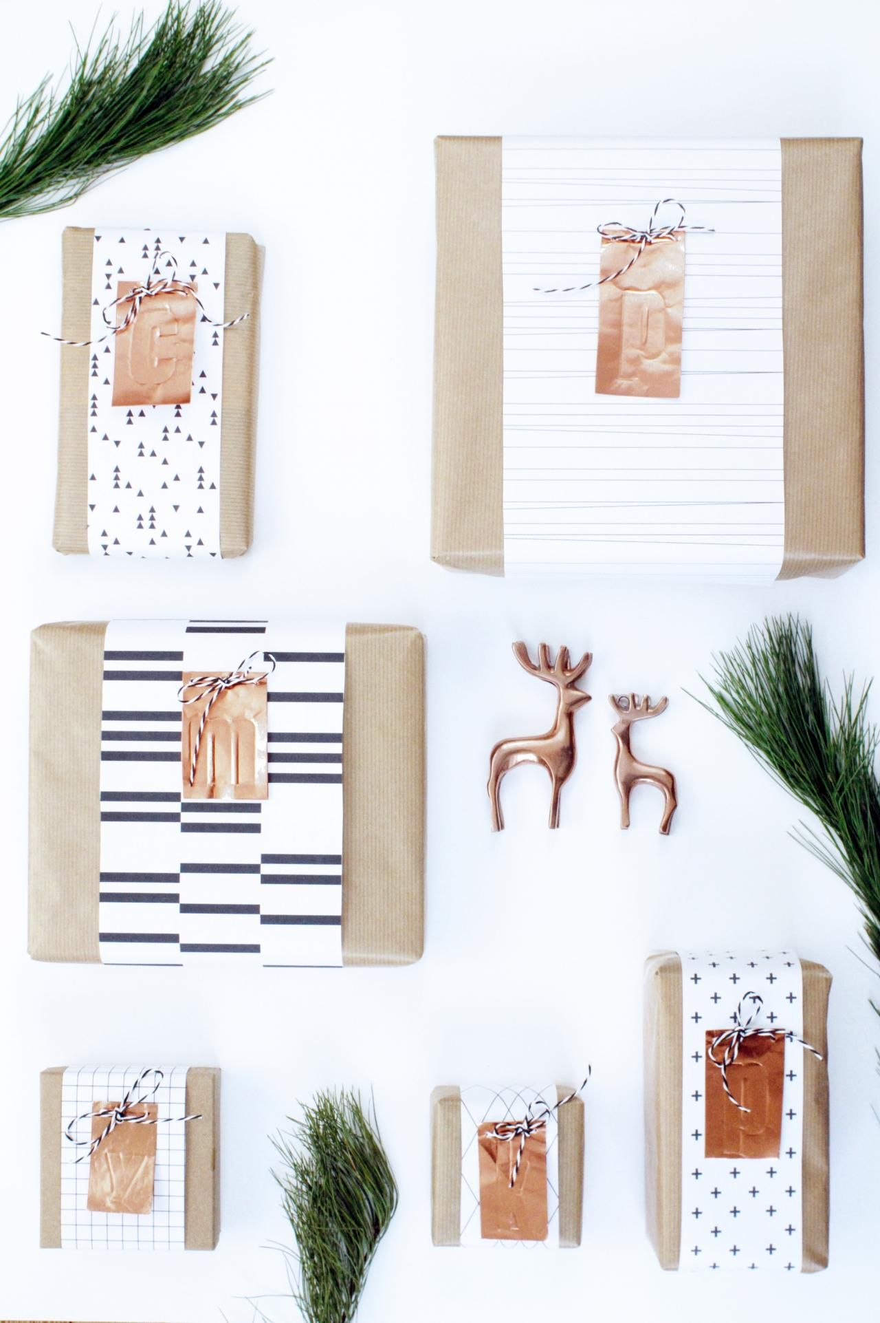 Geschenk Einpack Ideen schöner schenken monochrome geschenkverpackung mit geschenke