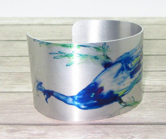 Navy Blue Peacock Cuff Bracelet
