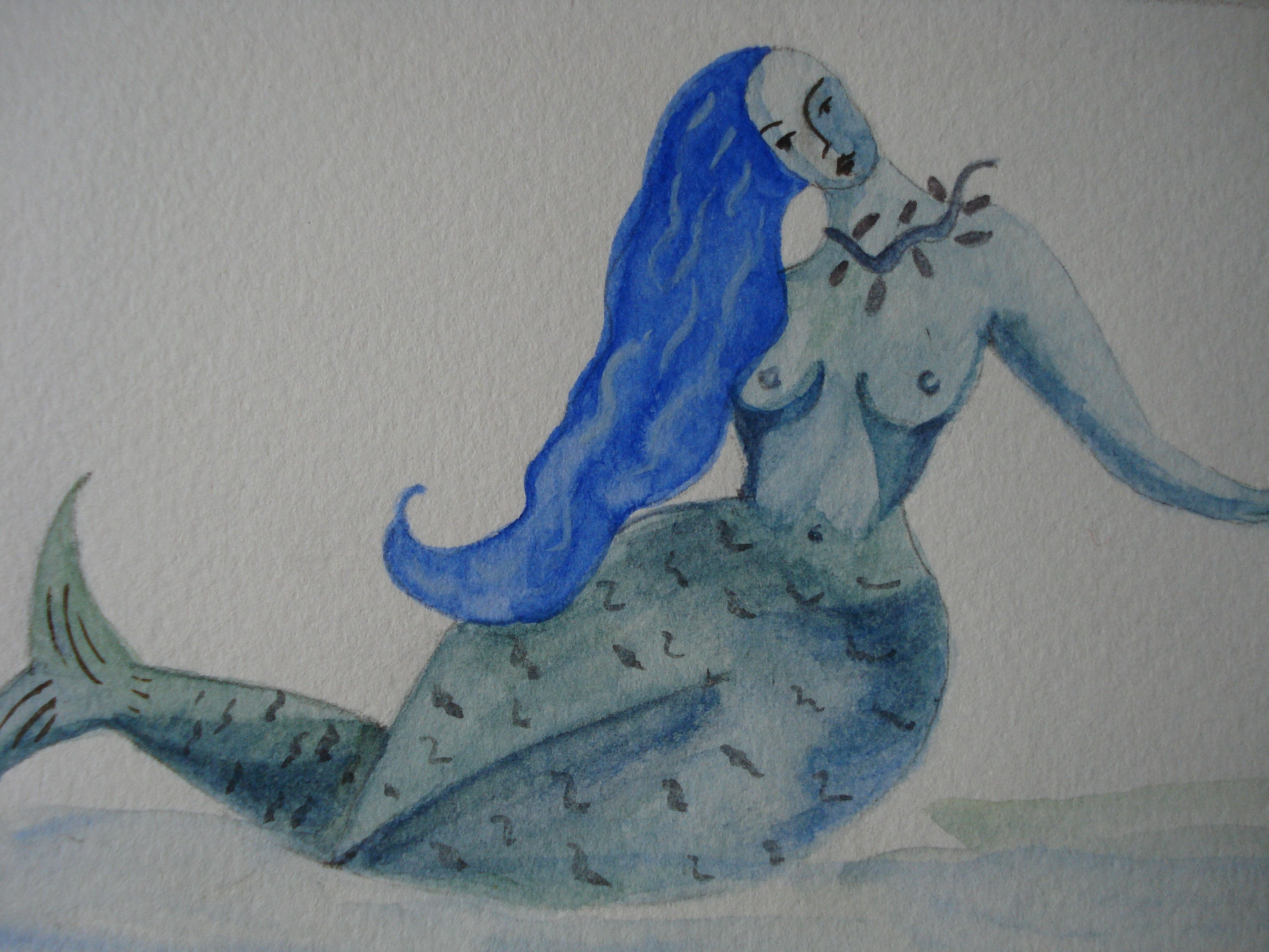 Aquarelle sur papier torchon