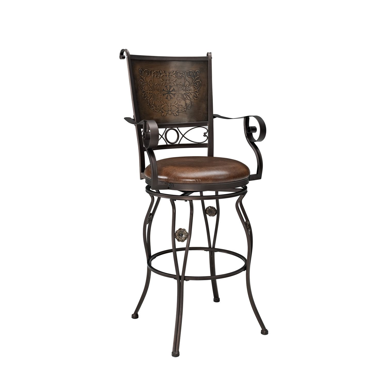 "Powell Furniture Big and Tall XL 30"" Swivel Bar Stool with Cushion"