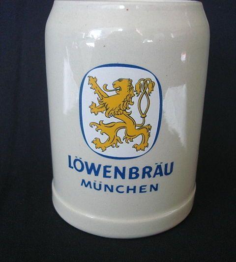 Beer Stein Lowenbrau Munchen (Munich).5L Mug Staffel West Germany New Mug #Lowenbrau #NationalBeerDay