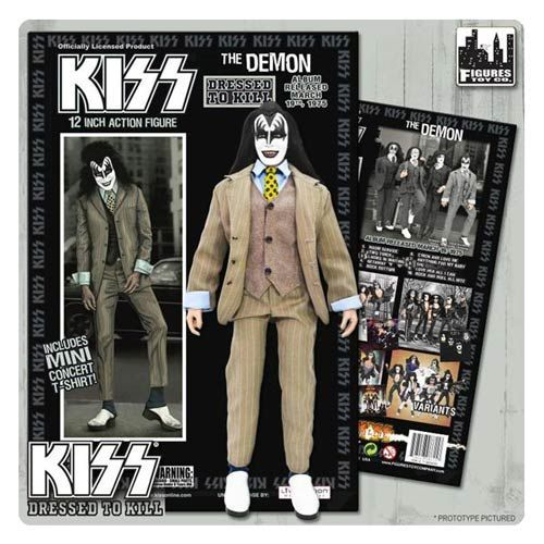 Kiss Demon Dressed To Kill Color Suit 12 Inch Action Figure Kiss