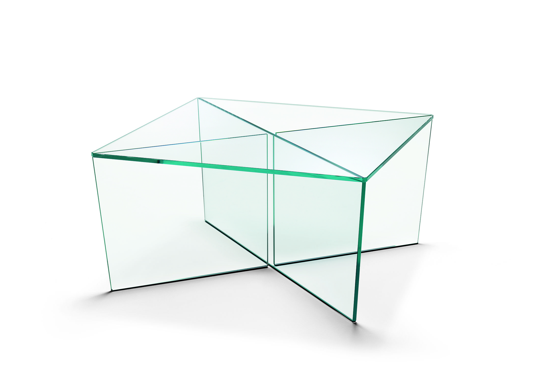 Mirage TAVOLINO BASSO in vetro extrachiaro. Design Matteo Ragni ...