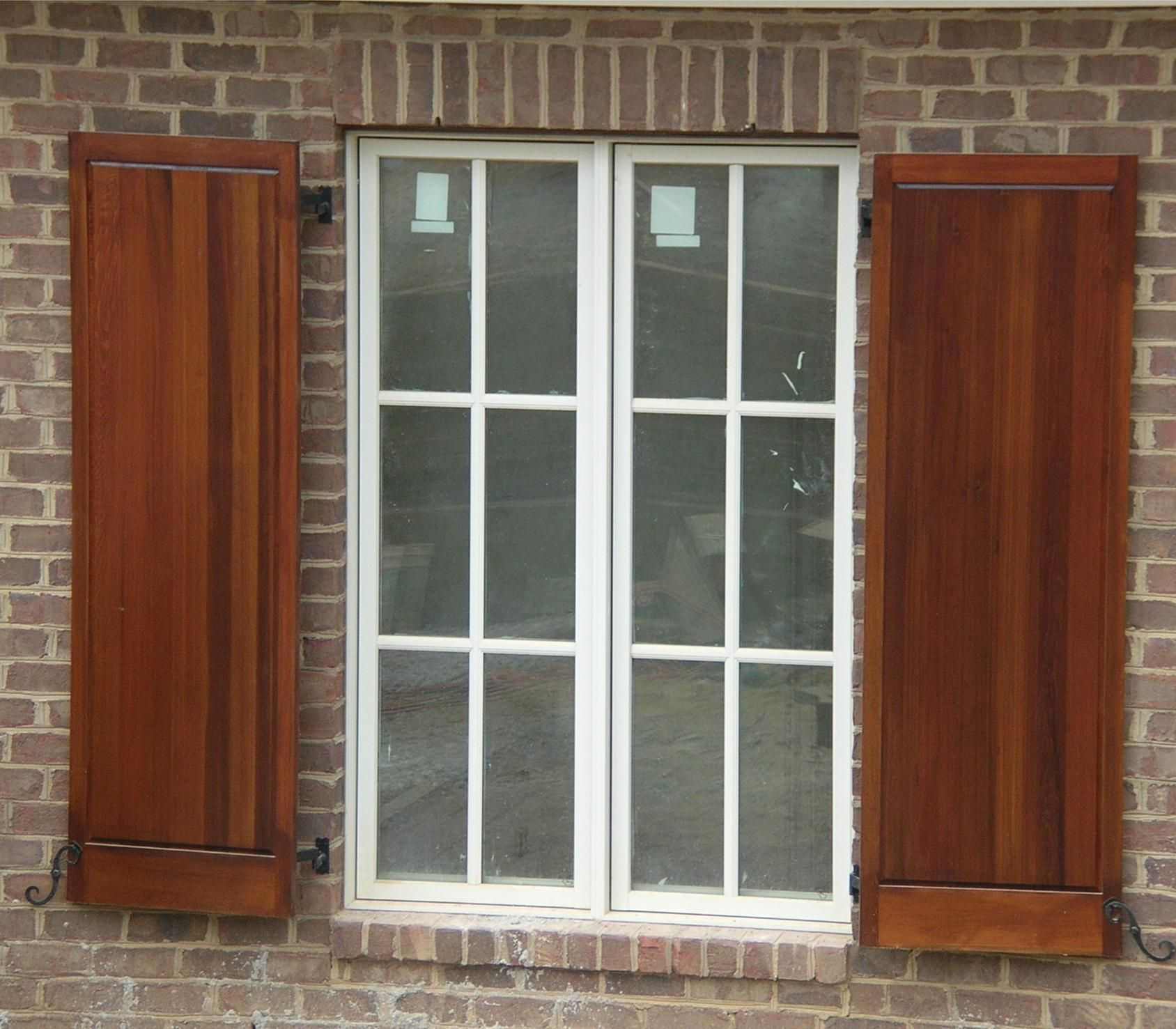 Exterior, Cool Stained Panel For Exterior Window Shutters ...