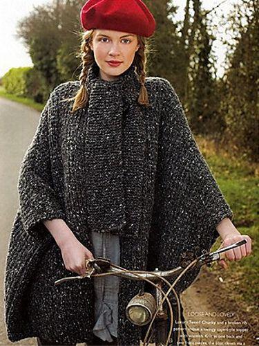 Ravelry: Cape Coat pattern by Debbie Bliss