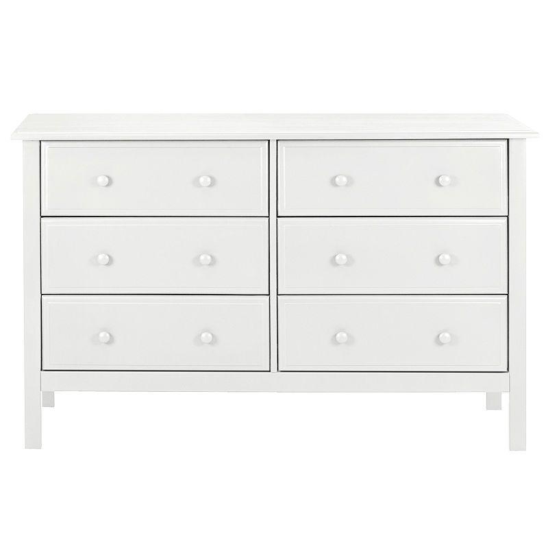 Davinci Jayden 6 Drawer Double Dresser White Wide Dresser