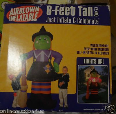 New 8ft Gemmy Airblown Inflatable Halloween Blow Up Witch