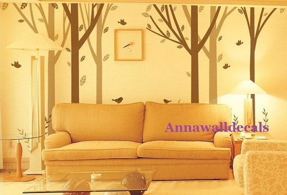 forestwall decals nature wall decals children wall by annaandnana
