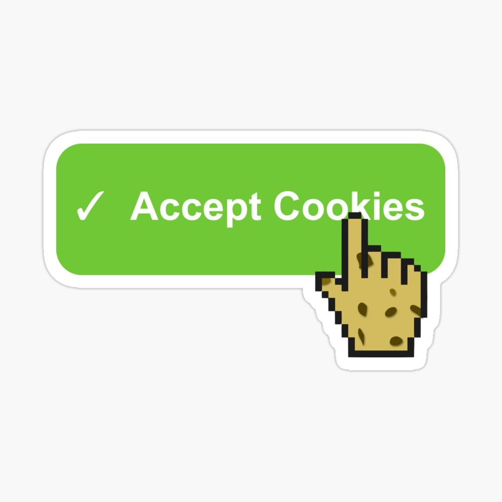 Accept Cookies Button Funny Sticker By Mwcannon Funny Stickers Coloring Stickers Stickers