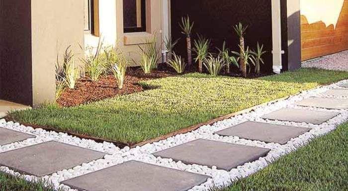 Senderos de losa para el jardin jard n jardines y - Losas para jardin ...