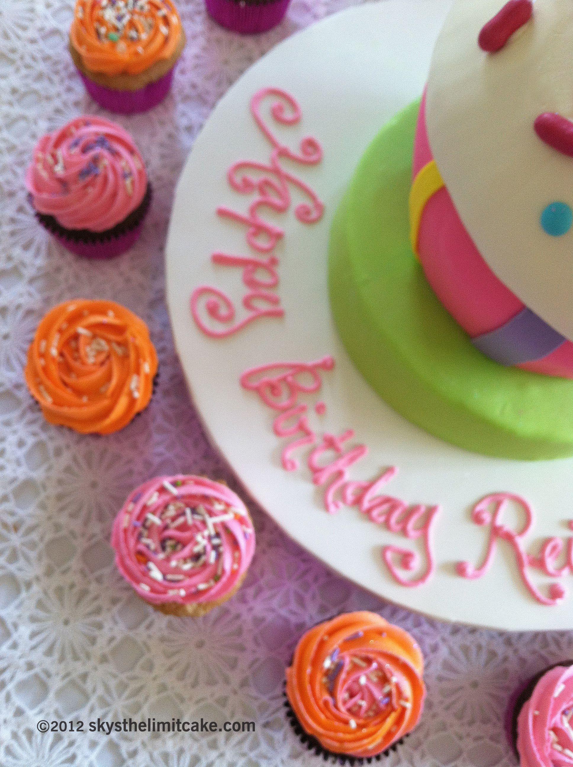 Miss Pink Poodle say Happy Birthday to you!    www.skysthelimitcake.com
