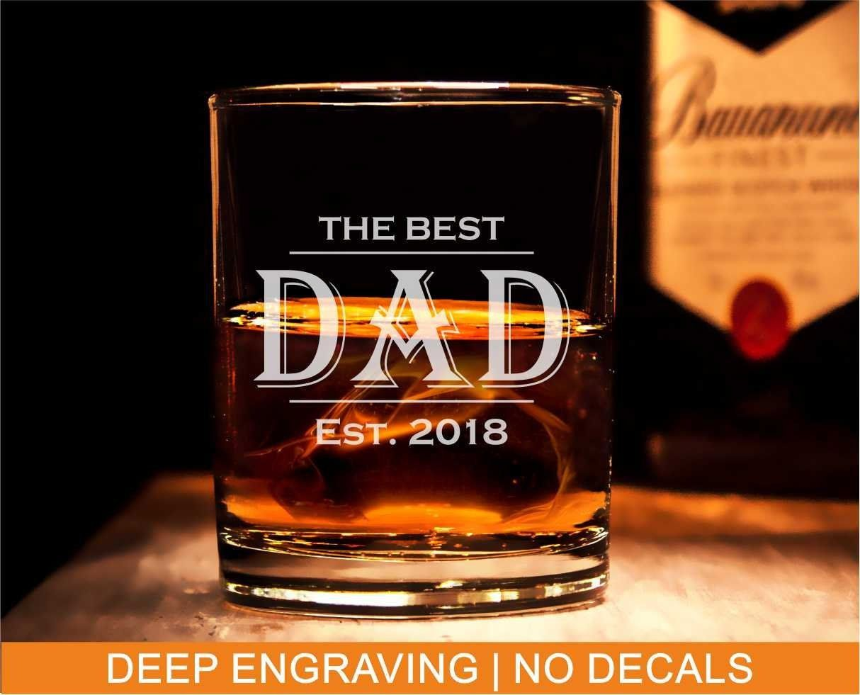 Best dad glass personalized dad whiskey glass custom