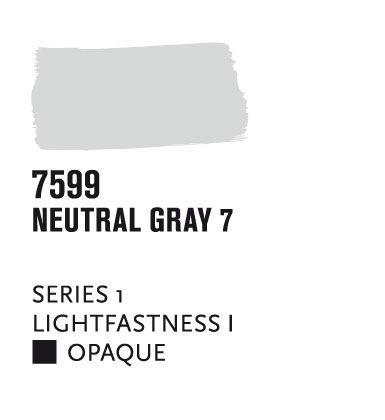 Liquitex paint marker wide 2mm chisel nib - neutral gray 7