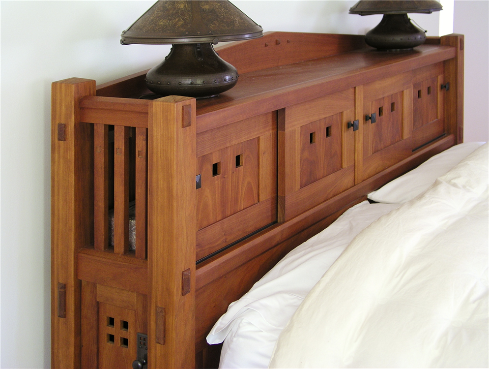 Bookcase Headboard Diy Furniture Bedroom Custom Bedroom Furniture Craftsman Style Furniture