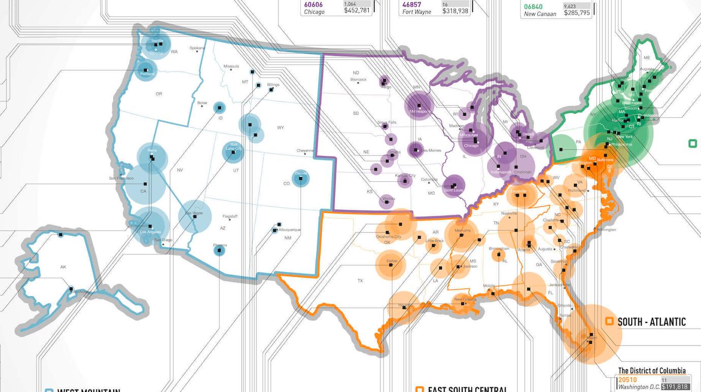 The US ZIPScribble Map What If Americas Zip Codes Were One Big - Us zip codes rhode island