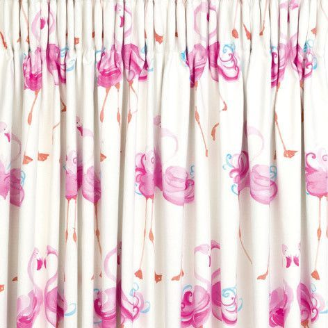 Laura Ashley Pretty Flamingo Ready Made Blackout Curtains