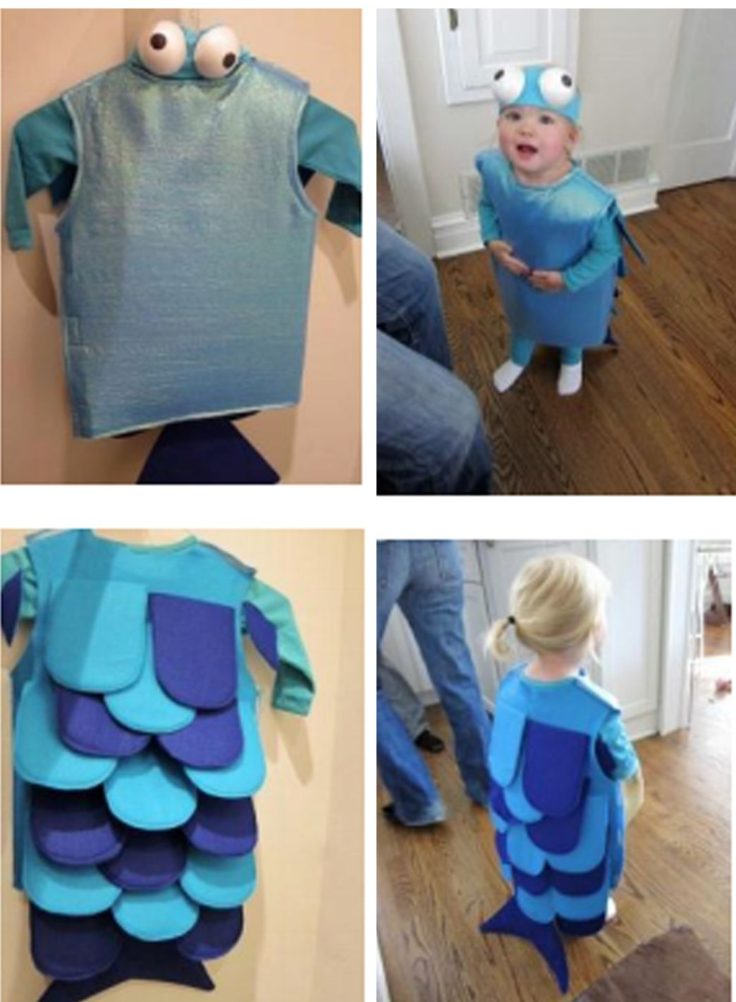 Adorable diy googly eyed blue fish diy undersea for Rainbow fish costume