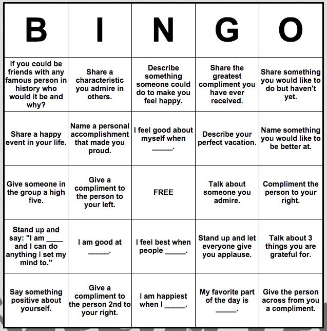 self esteem bingo ota