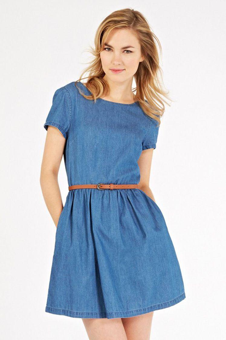 Short sleeve denim dress