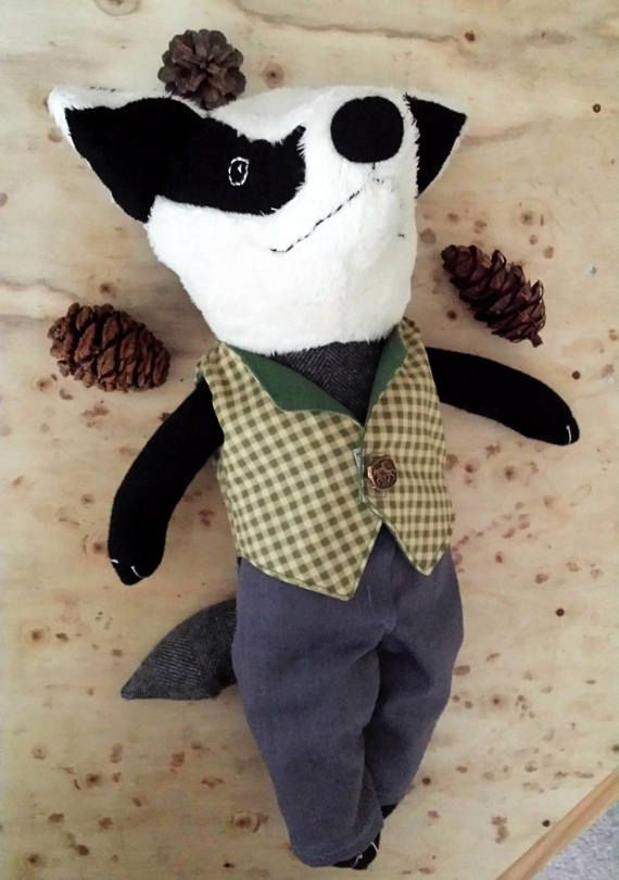 Hey, I found this really awesome Etsy listing at https://www.etsy.com/nz/listing/535502658/badger-rag-doll-woodland-animal-badger