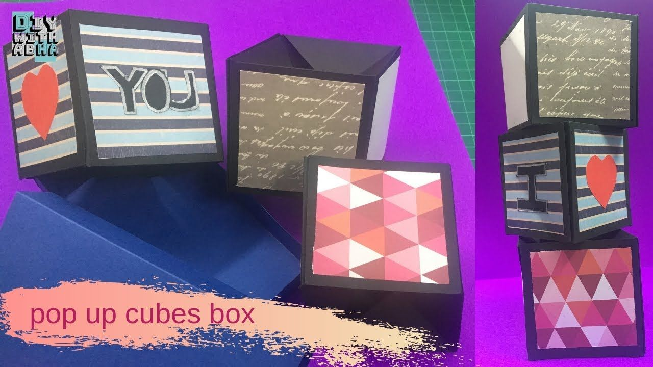 Pop Up Cubes Box Greeting Cards Boomf Greeting Cards Cards Greetings