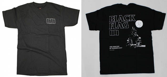 Black Flag Bars On Front The Process Of Weeding Out On Back On A Black Shirt Black Shirt Black Flag Shirts