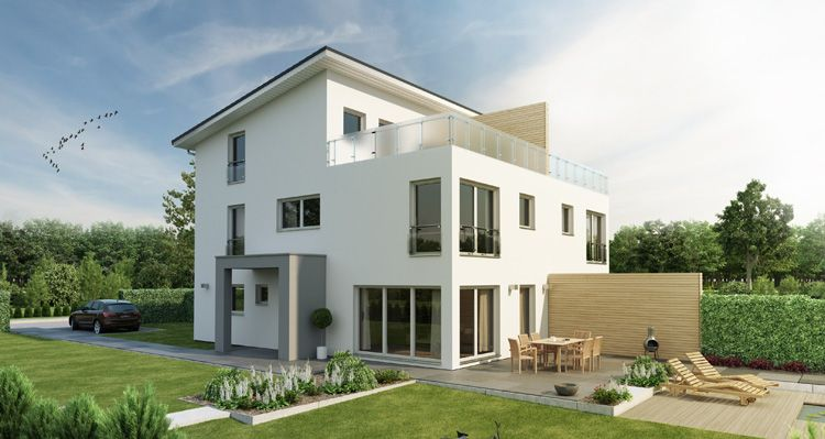 Die besten 25 doppelhaus fertighaus ideen auf pinterest for Doppelhaus modern