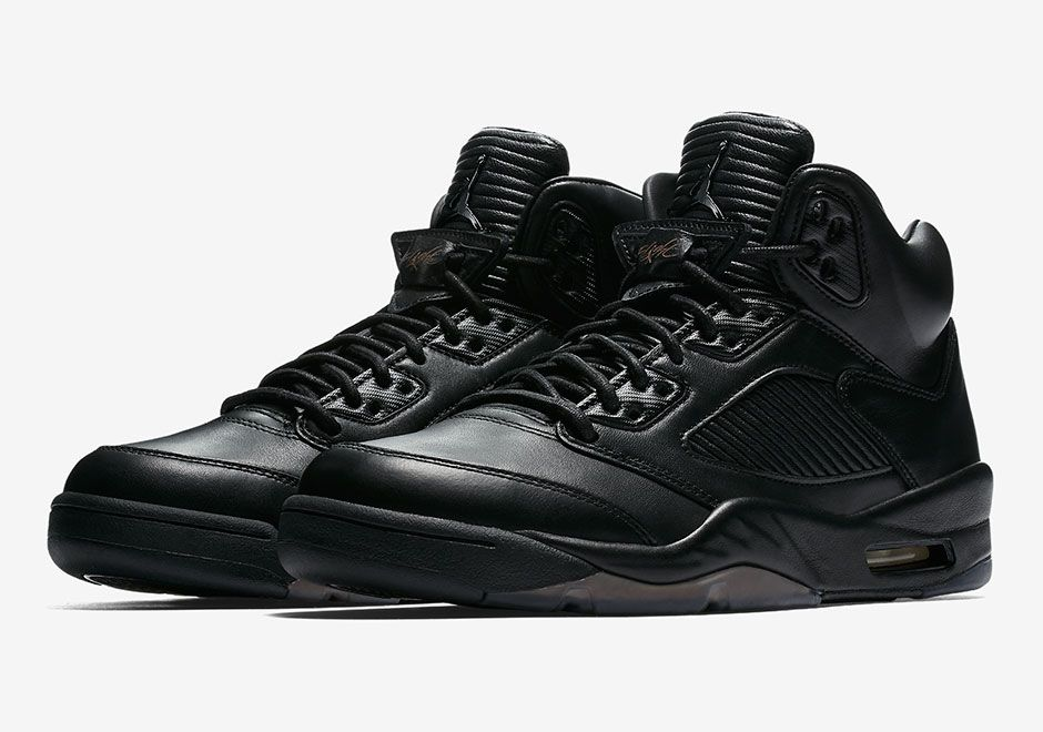 "sneakers  news The Next Air Jordan 5 ""Flight Jacket"" Features Premium Black  Leather 3835b21b4"