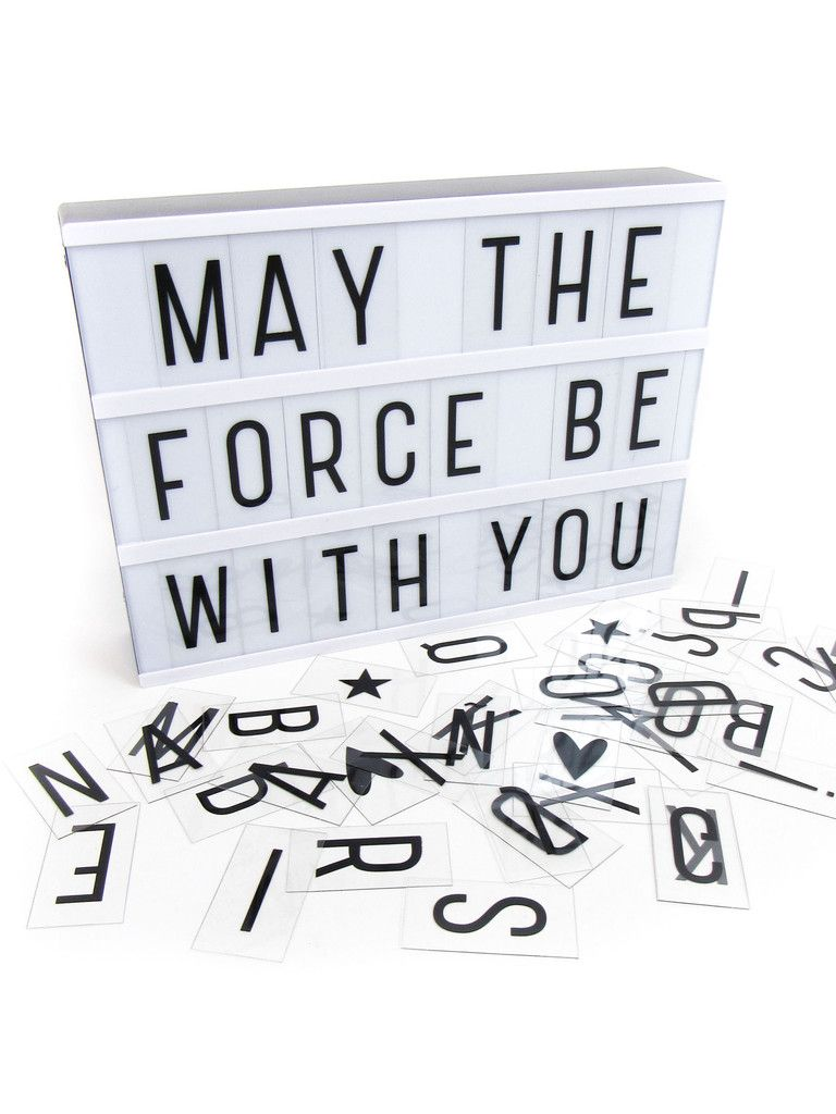 Boite Lumineuse Idee Message decorative battery-powered led lightbox with 85 letters and