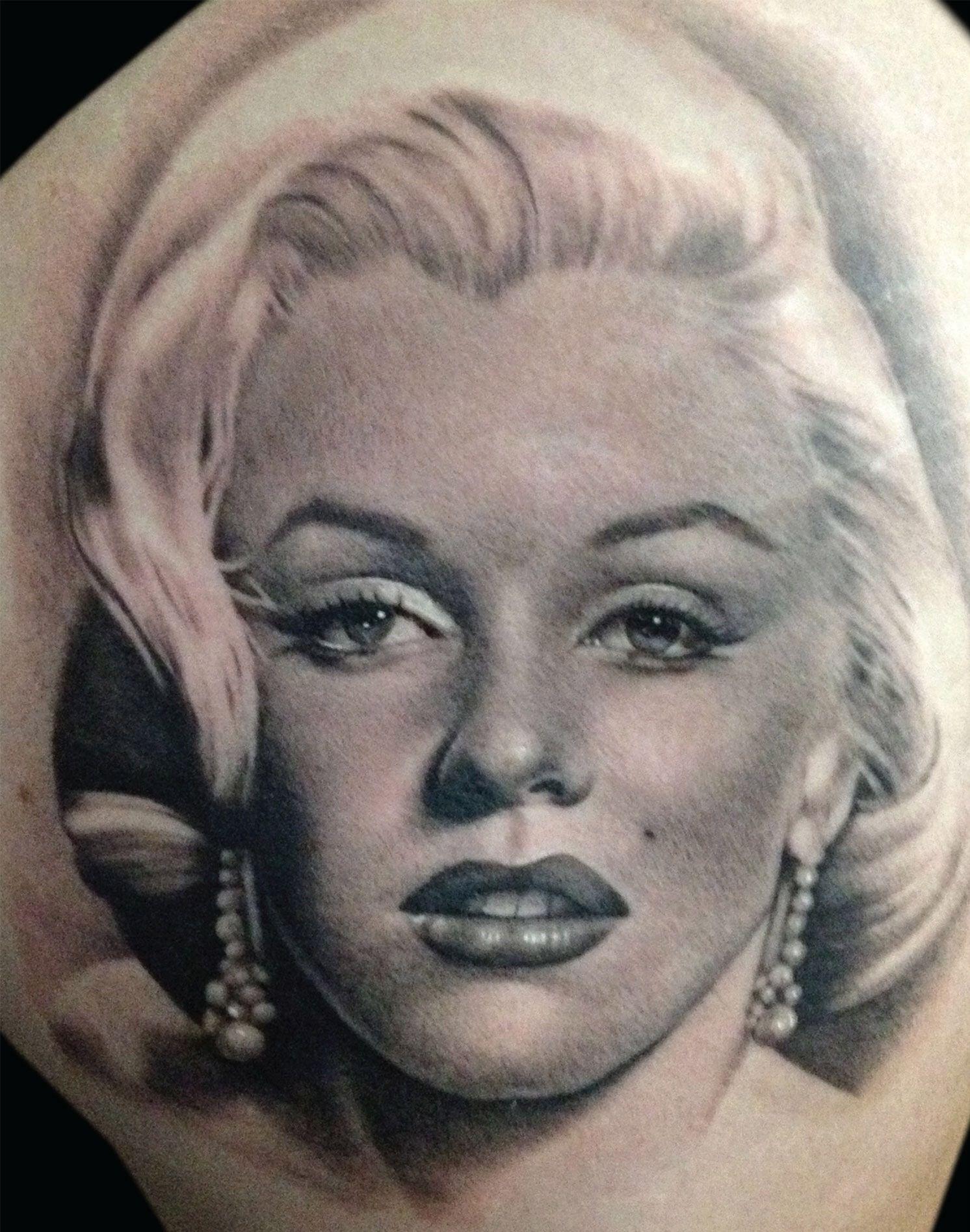 Marilyn portrait by teneile napoli inkedmagazine tattoos