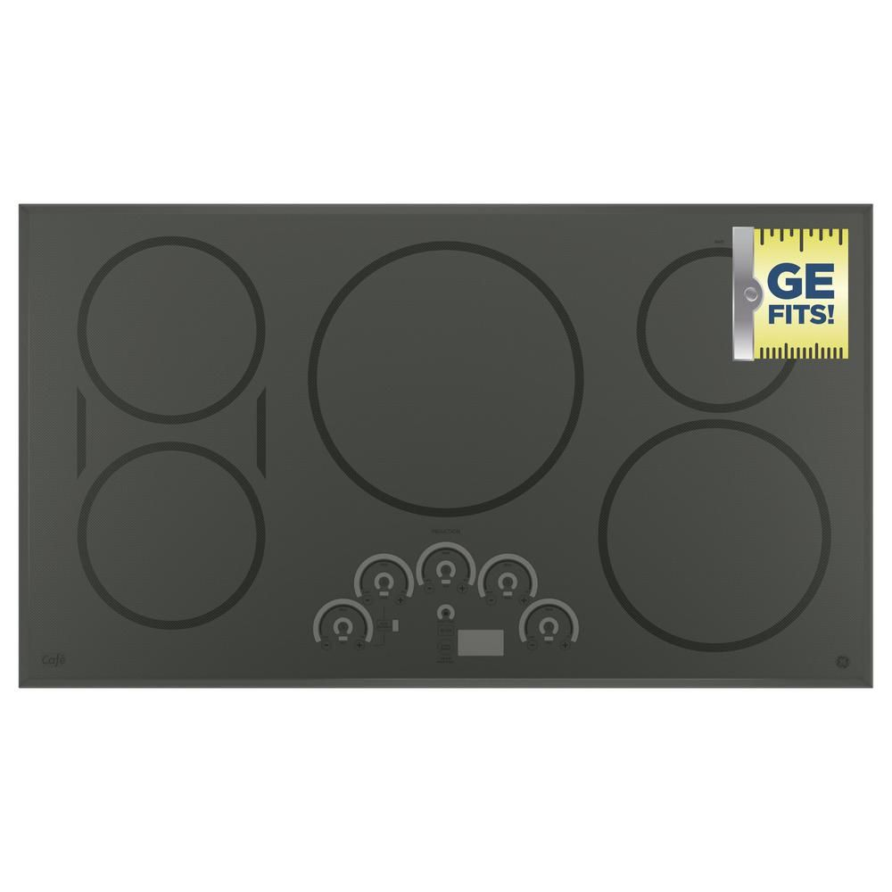 Cafe 36 In Induction Cooktop In Stainless Steel With 5 Elements