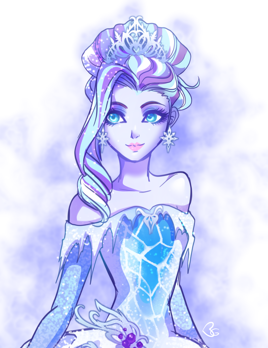 Ever after high tumblr queen art ice queen queen elsa elsa anime
