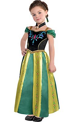 toddler girls anna coronation costume frozen