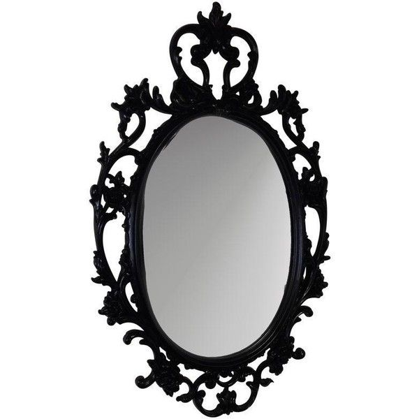 Black Ornate Mirror 375 Liked On Polyvore Featuring Home Home Decor Mirrors Fillers Decor Furnit Mirror Design Wall Ornate Mirror Mirror Gallery Wall