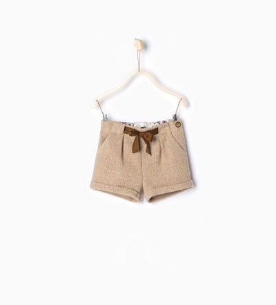 Image 1 of Bermuda shorts with bow from Zara