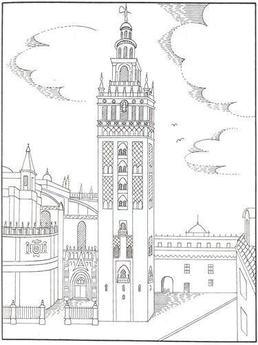 Dibujos Para Colorear Dia De Andalucia Dia De Andalucia Andalucia Ciudad Dibujo