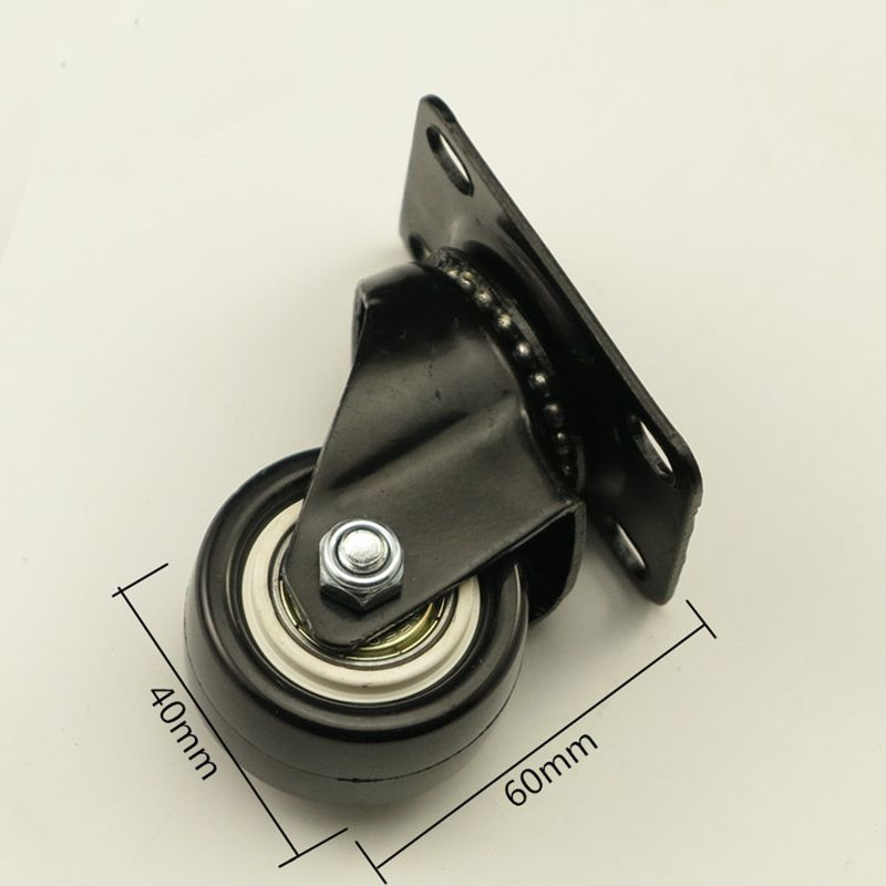 4PCS Black Office Chair Swivel Rubber Casters Industrial Universal
