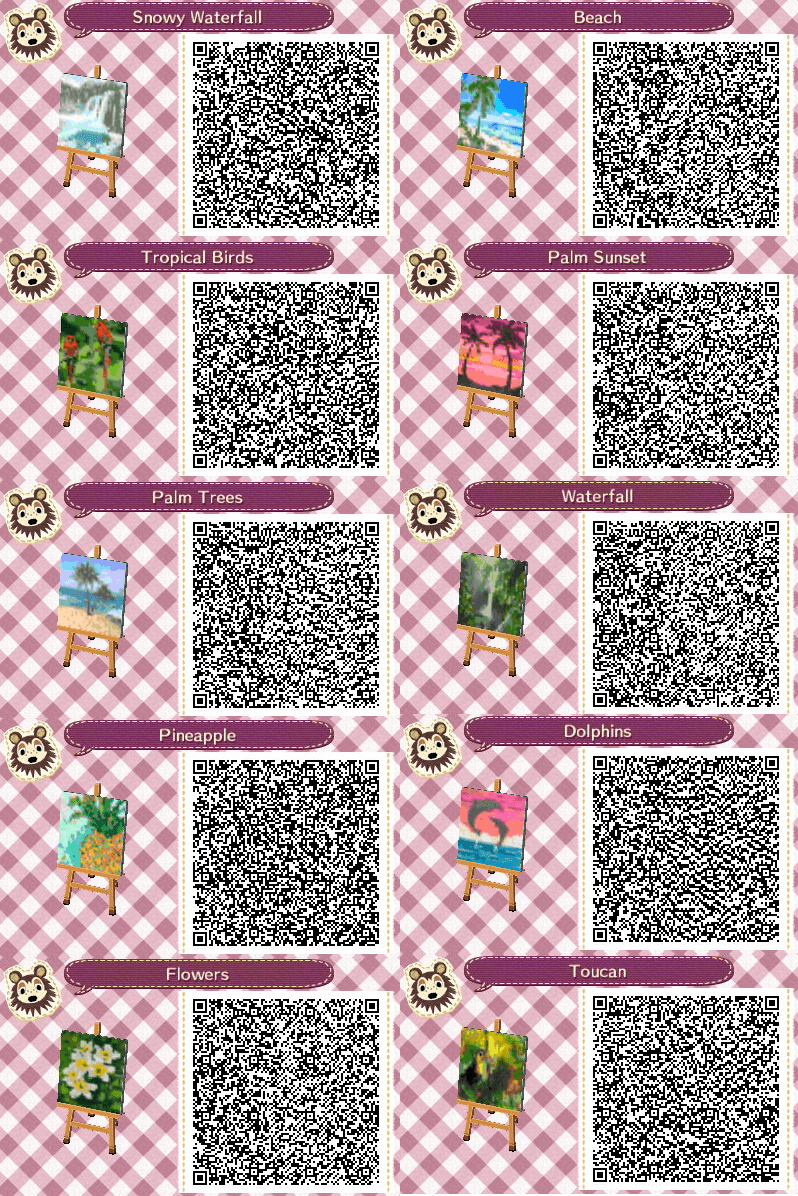 Animal Crossing New Horizons Town Flags Codes Tropical