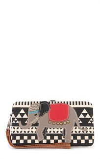 Aztec Print Wallet with Elephant Decal