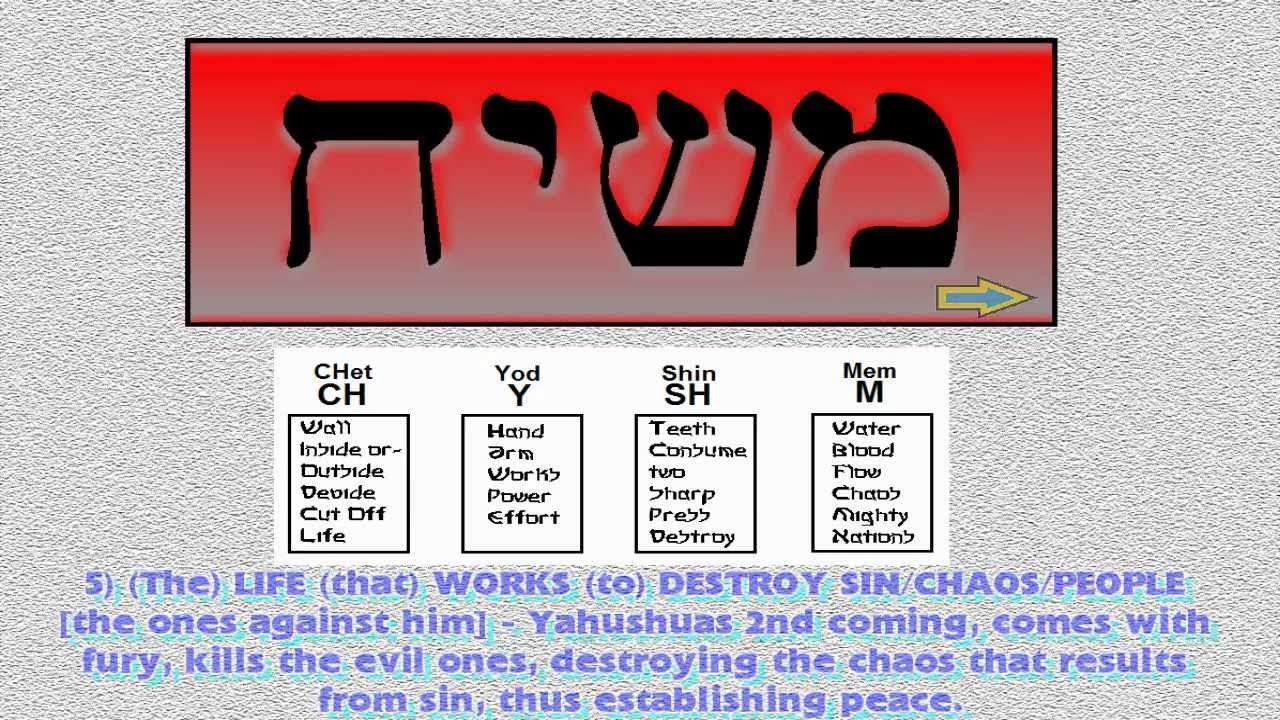 MSHYCH - Hebrew Pictographs & Letters - Hidden Information 1