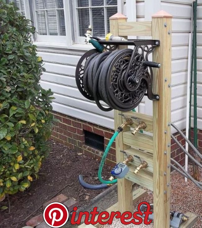 Hose Reel Solution For Yard And Garden Outdoor Faucet Extension