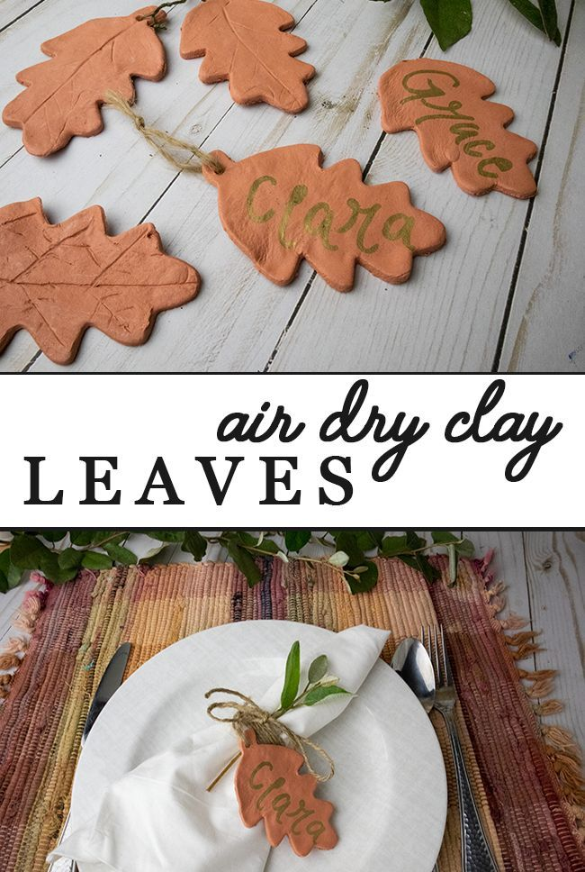 Easy Fall Decorations Using Air Dry Clay – Clumsy Crafter