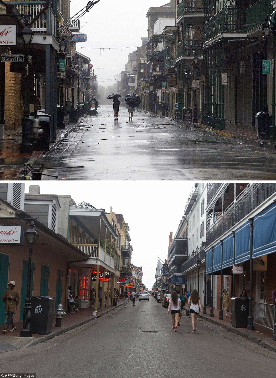 10 Years After Hurricane Katrina Stunning Photos Show New Orleans Now New Orleans Bar Street Hurricane Katrina